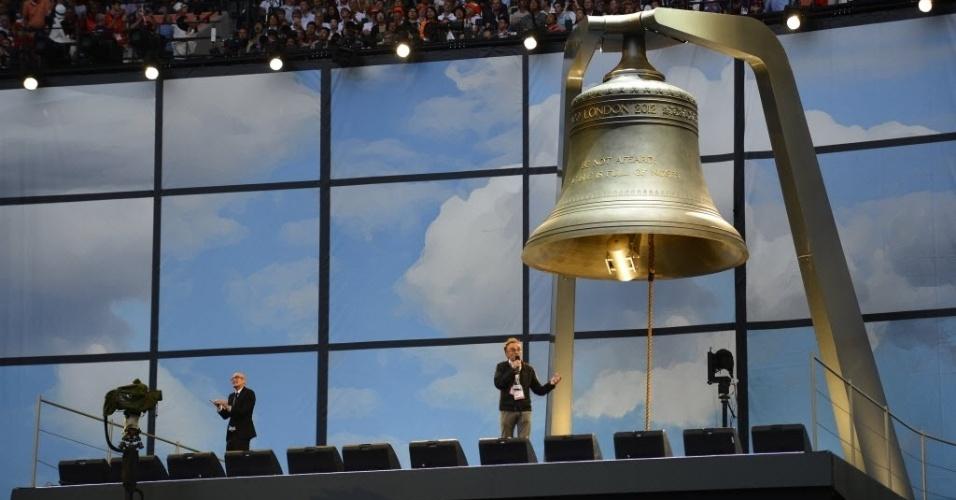 Responsável pela cerimônia de abertura, cineasta Danny Boyle conversa com público no Estádio Olímpico