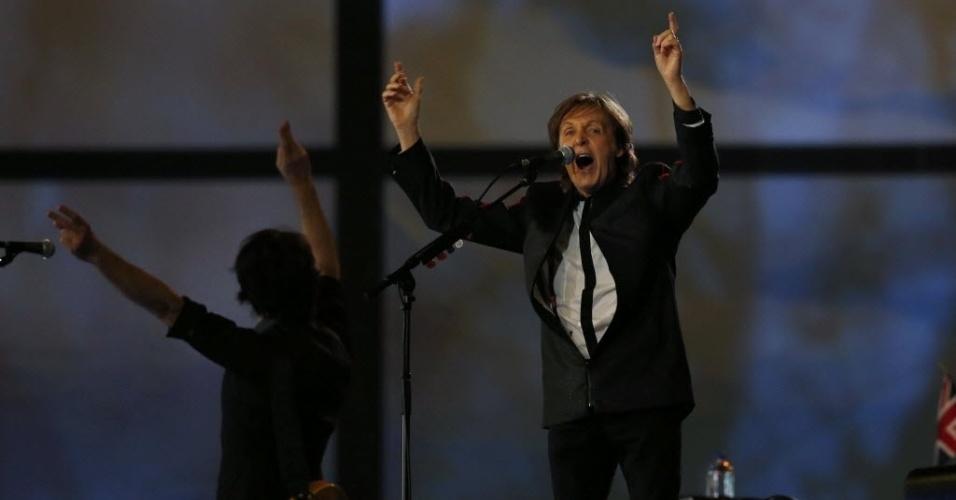 Show de Paul McCartney anima público e encerra cerimônia de abertura dos Jogos Olímpicos de Londres