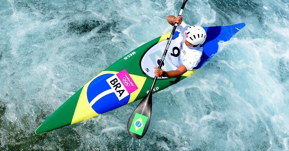 Ana Sátila treina para as provas do slalom em Londres (28/07/12)