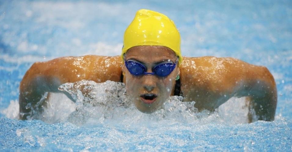 Australiana Stephanie Rice compete nas eliminatórias dos 400 m medley (28/07/2012)
