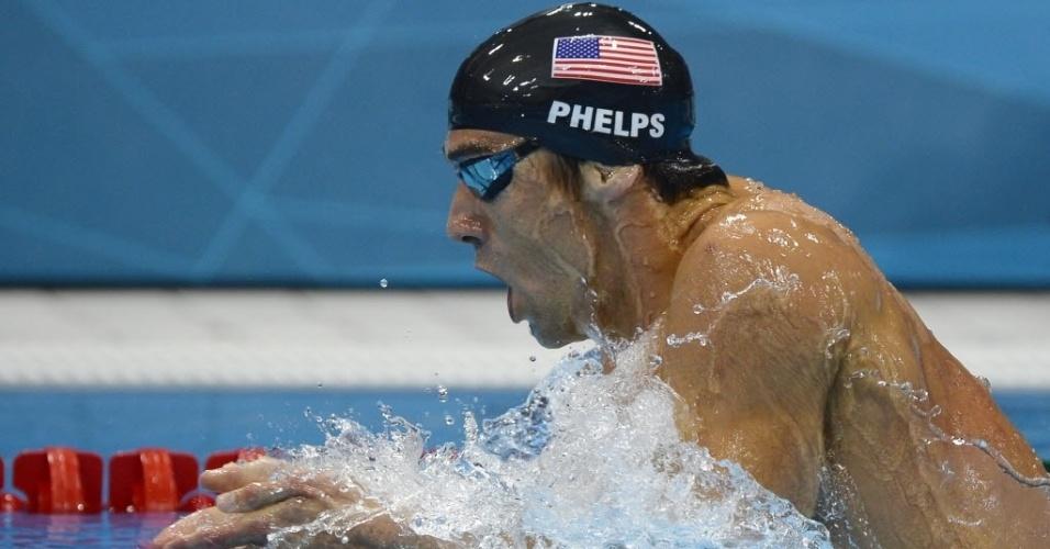 O nadador americano Michael Phelps foi apenas o quarto colocado na prova dos 400 m medley em Londres