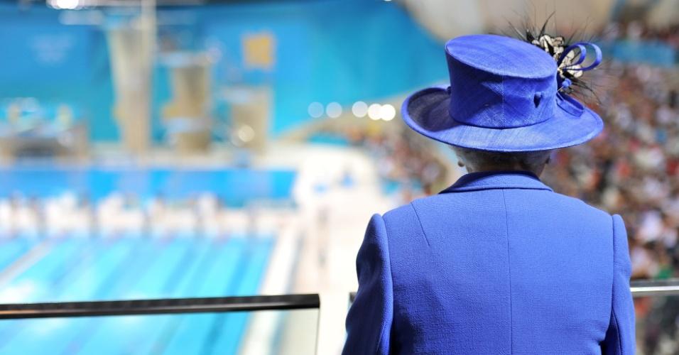 Rainha Elizabeth 2ª visitou o Parque Olímpico no primeiro dia oficial dos Jogos de Londres