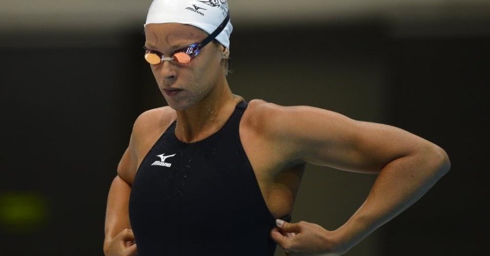 Federica Pellegrini se prepara para as eliminatórias dos 400 m livre; italiana se classificou em sétimo
