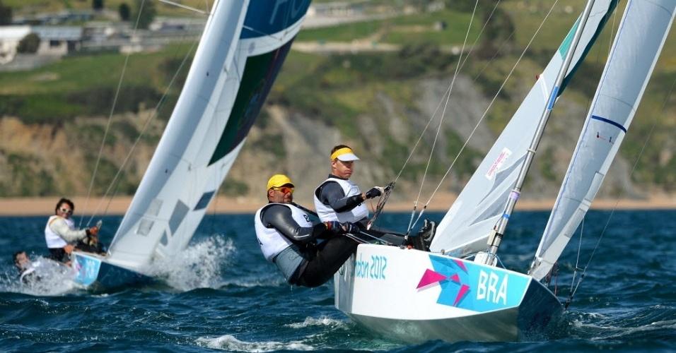 Robert Scheidt e Bruno Prada disputam a segunda regata da classe Star nos Jogos de Londres