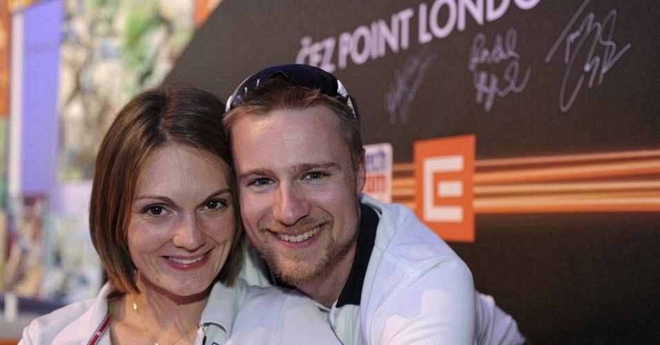 Tcheca Katerina Emmons e o norte-americano Matt Emmons formam um casal de atiradores nos Jogos de Londres