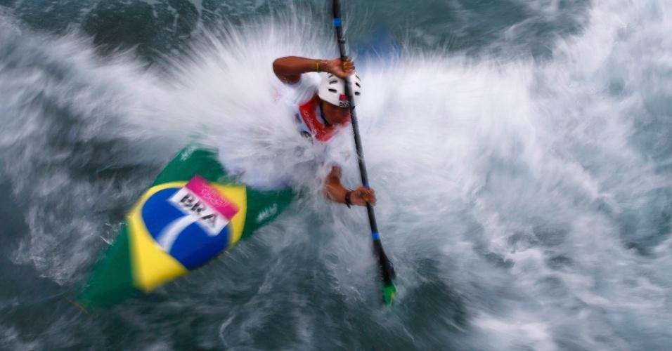 Ana Satila compete na categoria K1 da canoagem nos Jogos Olímpicos