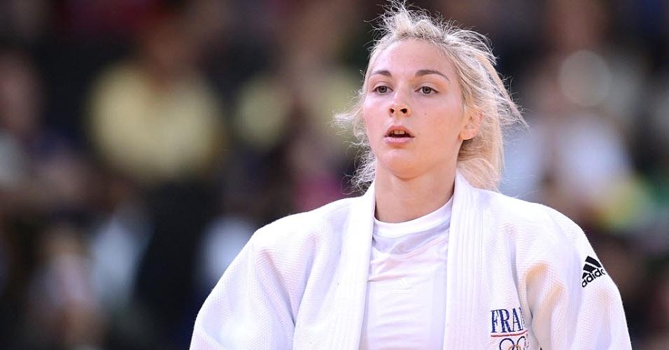 Bela francesa Automne Pavia compete no judô, na categoria até 57 kg, nestes Jogos de Londres