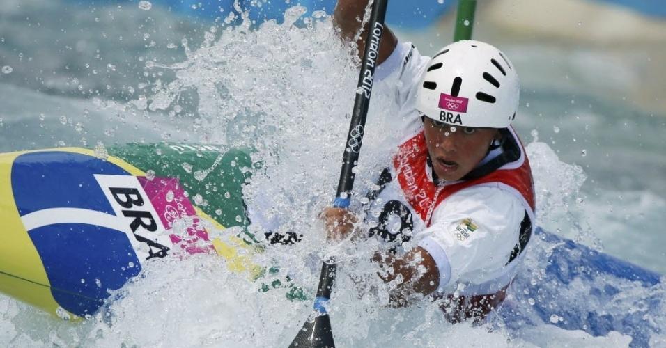 Caçula da delegação brasileira, Ana Sátila estreou nesta segunda-feira nos Jogos de Londres