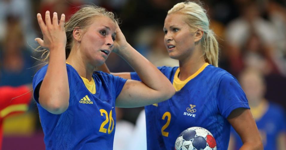 Isabelle Gullden e Ulrika Agren, atletas da seleção de handebol da Suécia