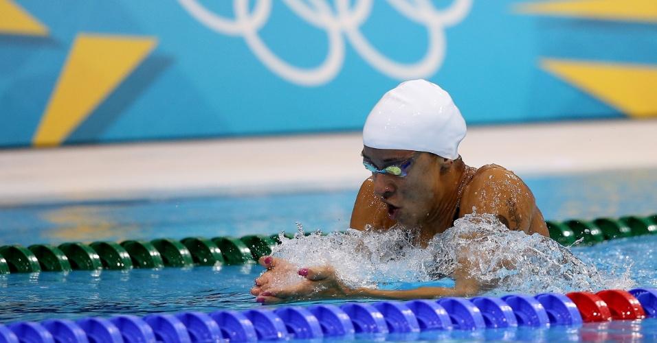 Joanna Maranhão conseguiu classificação para a semifinal dos 200 m medley ao terminar sua bateria na sétima posição