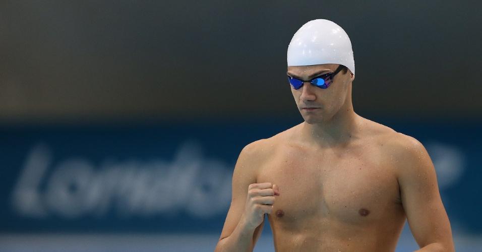 Leonardo de Deus também foi mal e terminou sua bateria na eliminatória dos 200 m borboleta na penúltima posição