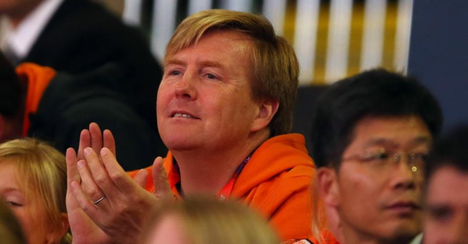Príncipe Willem-Alexander, da Holanda, acompanha o terceiro dia oficial de competições em Londres