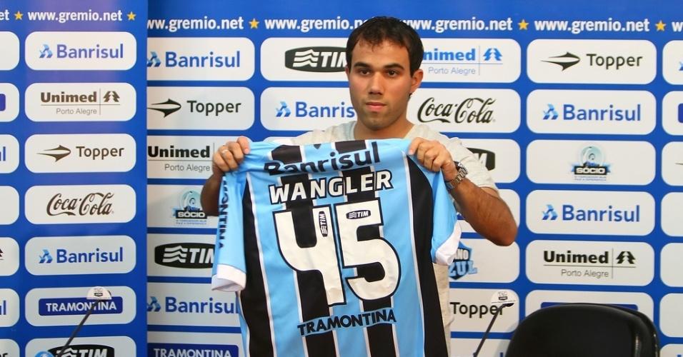 Wangler é apresentado no Grêmio e reforça time Sub-23 (30/07/2012)