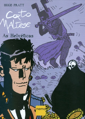 """Capa da edição nacional de """"Corto Maltese: As Helvéticas - Divulgação"""