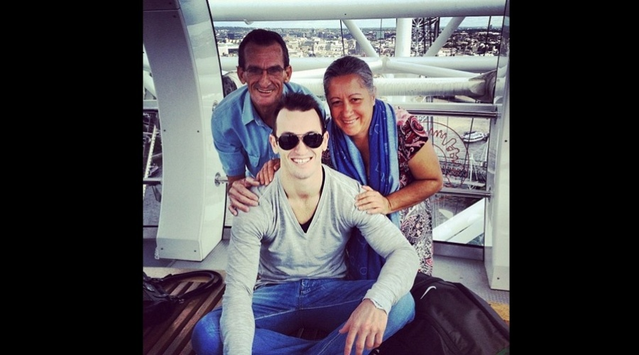 Diego Hypólito vistou a London Eye, famosa roda-gigante de Londrez, Inglaterra (31/7/12)