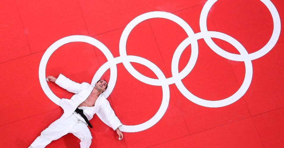 Emmanuel Lucenti, judoca da Argentina, após ser derrotado pelo canadense Antoine Valois-Fortier