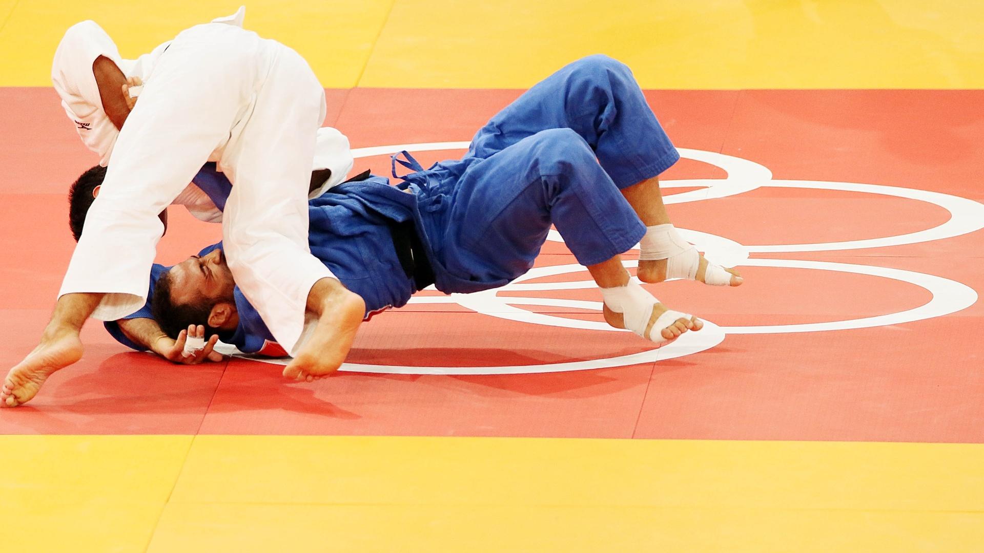 Leandro Guilheiro superou o marroquino Safouane Attaf por ippon na segunda rodada da categoria até 81 kg