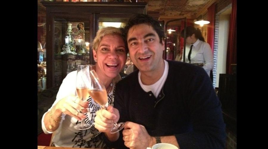 Astrid Fontenelle e Zeca Camargo viajaram para a Argentina (1/8/12)