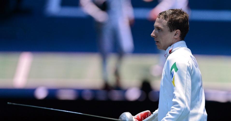 Brasileiro Athos Schwantes foi derrotado pelo holandês Bas Verwijlen na esgrima