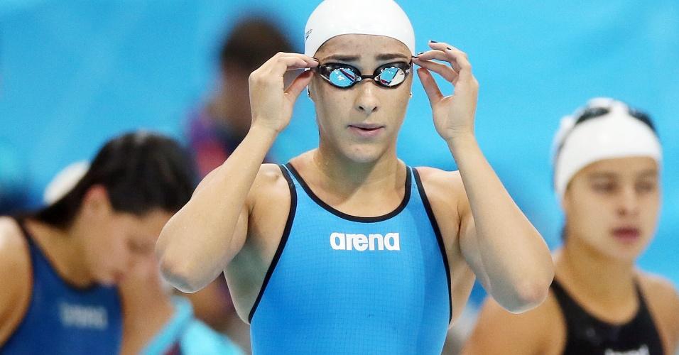 Daynara de Paula fez apenas o 26º melhor tempo na eliminatória dos 100 m livre e está fora da disputa em Londres