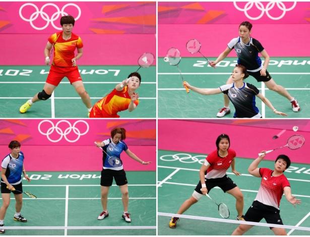 Duplas de China, Coreia do Sul e Indonésia foram advertidas por conduta antidesportiva