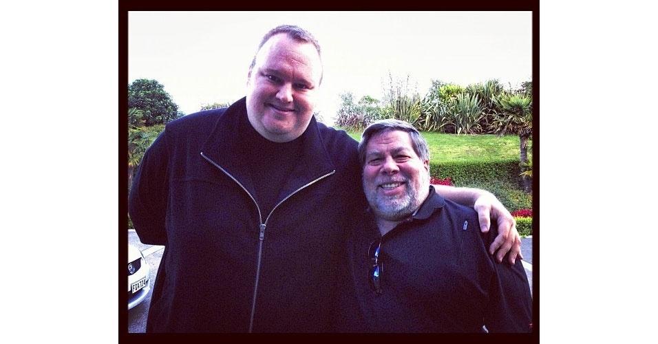 Kim Dotcom Instagram Steve Wozniak