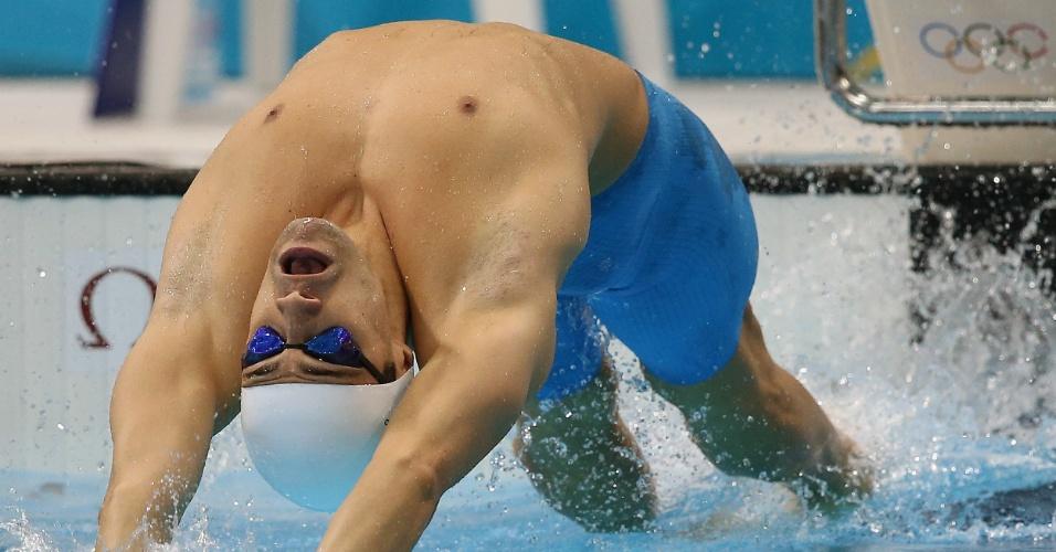 Leonardo de Deus fez o 16º e último tempo para garantir a classificação à semifinal dos 200m costas