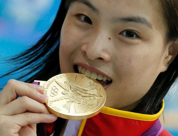 Wu Minxia, medalhista de ouro no trampolim de 3 metros