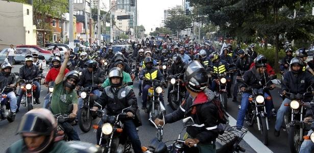 Motoboys são principal categoria, mas data homenageia estes e outros motociclistas - Almeida Rocha/Folhapress