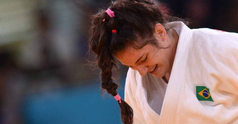 Brasileira Mayra Aguiar lamenta derrota para a norte-americana Kayla Harrison na semifinal do judô até 78 kg