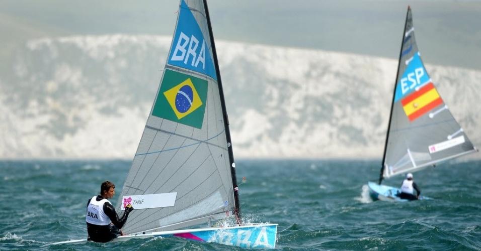 Brasileiro Jorge Zarif participa de regata da Classe Finn da vela nos Jogos de Londres