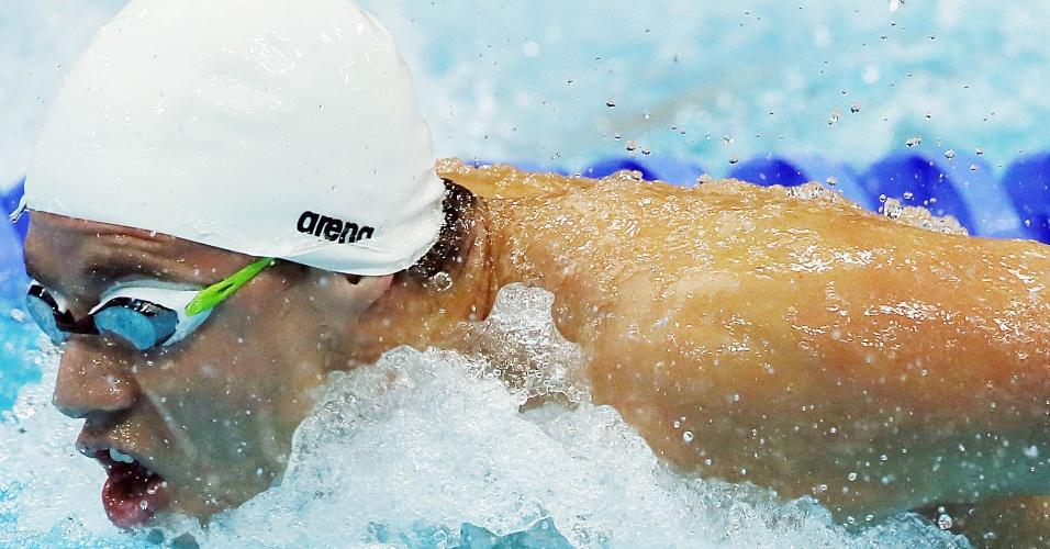 Brasileiro Thiago Pereira nada a final da prova dos 200 m medley (02/08/2012)