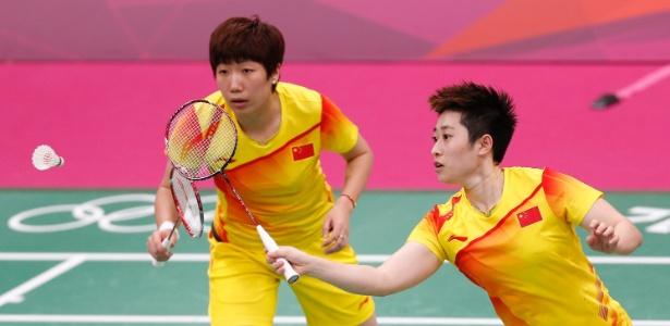 Chinesa Yu Yang, à direita, anunciou decisão de abandonar o badminton após eliminação dos Jogos