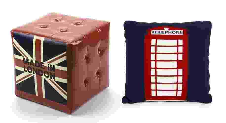 Está curtindo os jogos olímpicos de Londres? Aproveite e se inspire na capital inglesa para decorar sua casa. Veja a seleção de objetos e móveis com referências aos ícones da cidade - Montagem/ UOL