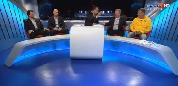 Galvão Bueno e Renato Mauricio Prado no Conexão SporTV