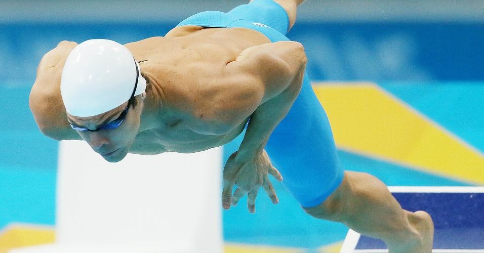 Kaio Márcio mergulha para eliminatória dos 100 m borboleta dos Jogos Olímpicos; brasileiro não se classificou