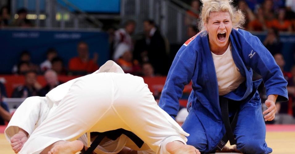 Mayra Aguiar perdeu para a norte-americana Kayla Harrison na semifinal da categoria até 78 kg