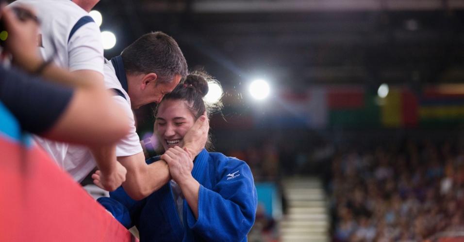 Mayra Aguiar vibra com medalha de bronze na categoria até 78 kg do judô olímpico