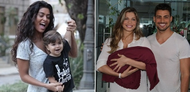 Juliana Paes e Grazi Massafera estão entre as mães que armazenaram o sangue do cordão de seus bebês - Divulgação TV Globo/Clayton Militão/Photo Rio News