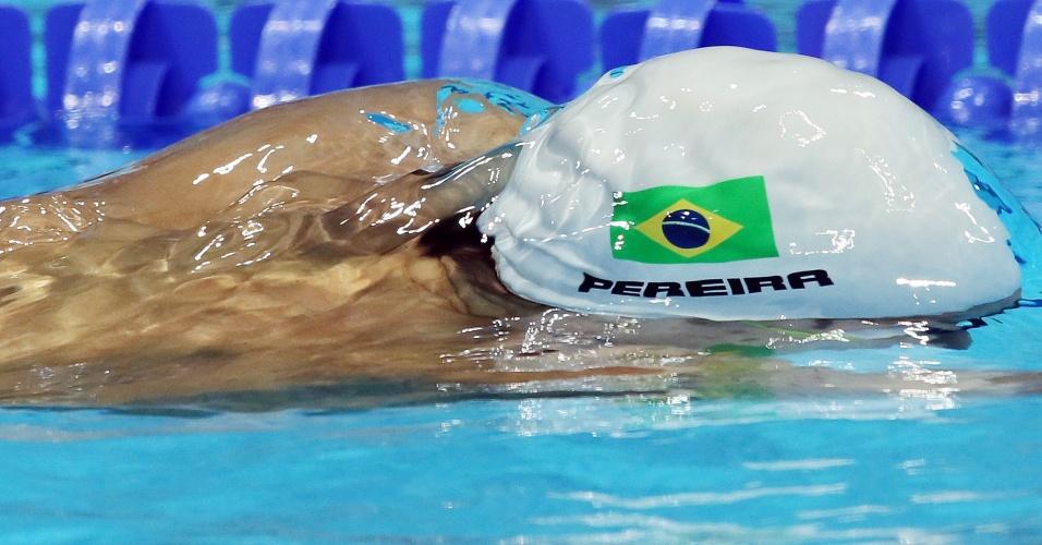 Thiago Pereira fez apenas o quarto melhor tempo nos 200 m medley e ficou sem medalha (02/08/2012)