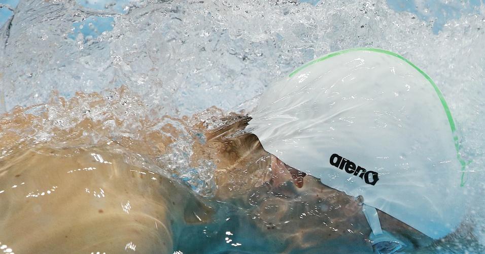 Cesar Cielo nada a prova dos 50 metros livre dos Jogos Olímpicos de Londres