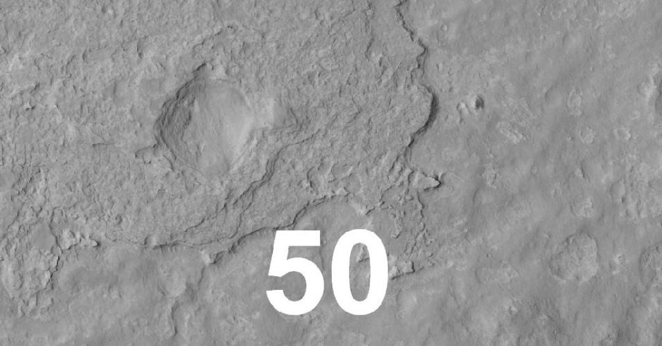 Close da região de pouso do robô Curiosity em Marte