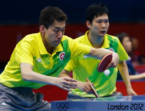 Jiang Tianyi e Leung Chu Yan, de Hong Kong, venceram Thiago Monteiro e Gustavo Tsuboi na competição por equipes masculinas