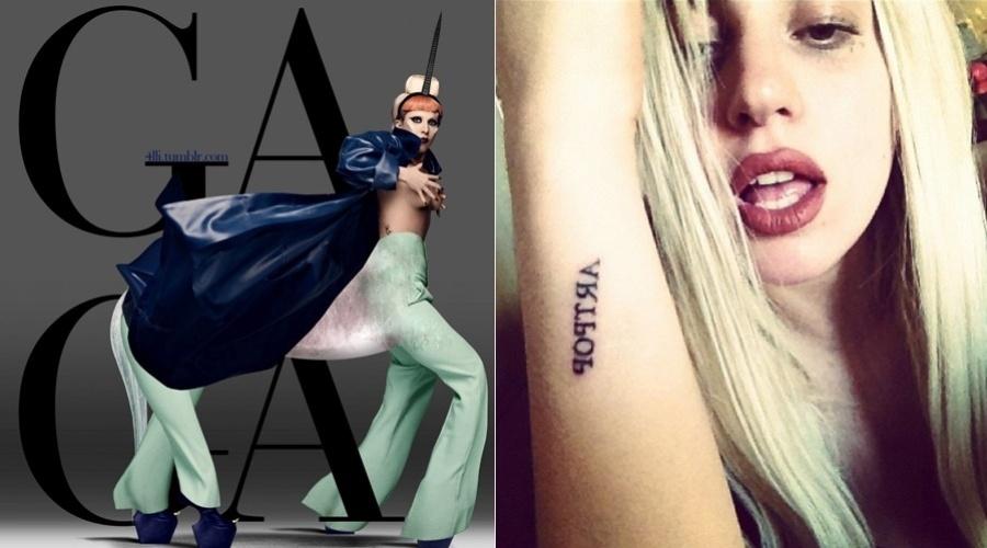 Lady Gaga divulgou uma imagem onde aparece fantasiada de unicórnio (3/8/12)