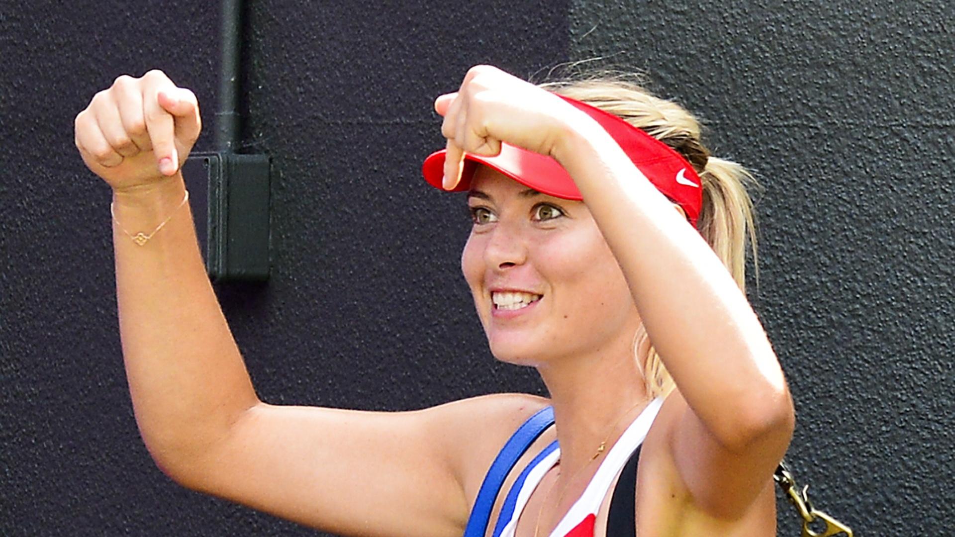 Maria Sharapova comemora passagem à final dos Jogos Olímpicos