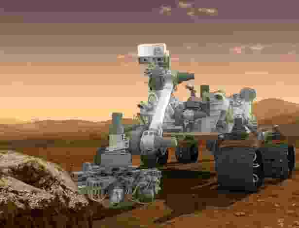 O robô de exploração Curiosity. o maior artefato e o mais sofisticado já enviado a outro planeta - Nasa
