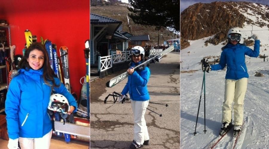 Paula Fernandes viajou para Bariloche, Argentina. As imagens da viagem foram divulgadas pela cantora por meio de sua página do Twitter (3/8/12)