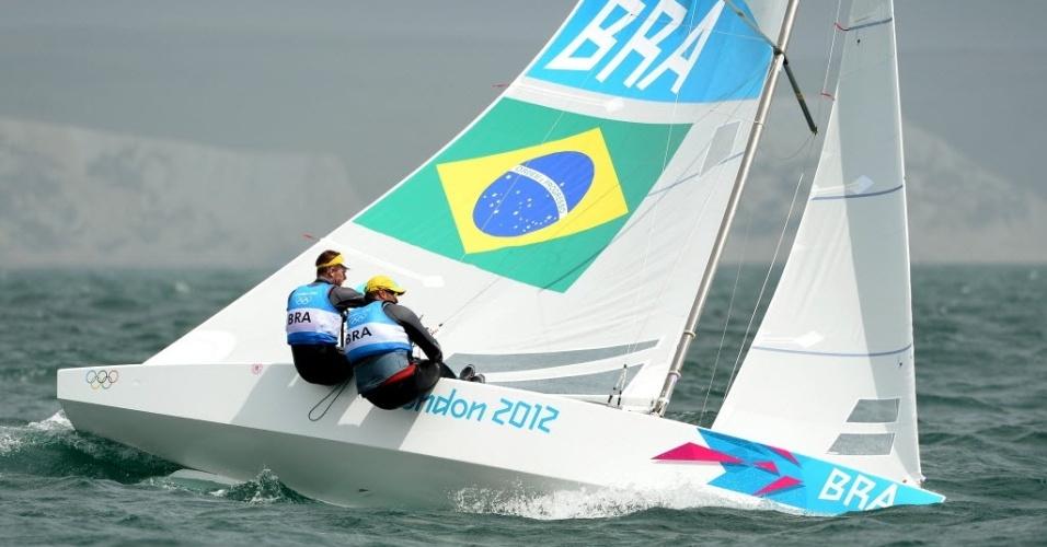 Robert Scheidt e Bruno Prada competem na classe Star nos Jogos Olímpicos de Londres