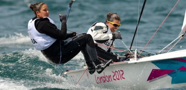 Ana Barbachan e Fernanda Oliveira ficaram fora do pódio da classe 470 nos Jogos de Londres