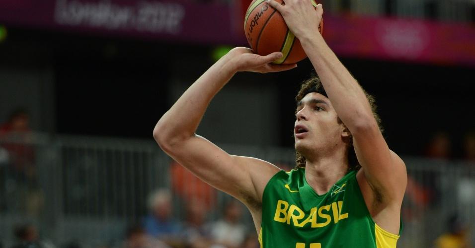Anderson Varejão cobra lance livre em boa vitória brasileira sobre a China na primeira fase dos Jogos Olímpicos
